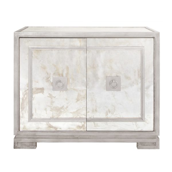 Antique Mirror cabinet with Silver trim and detail.