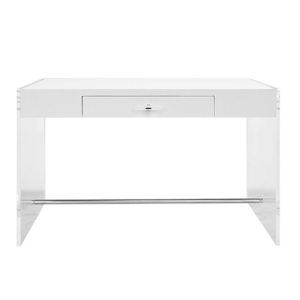 Lennon White Lacquer Desk