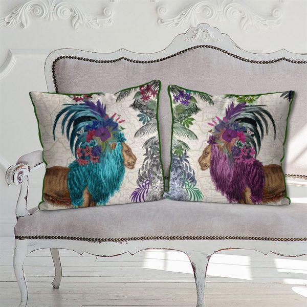 African Lion Pillows