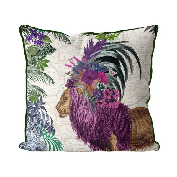 African Lion Pillow front view