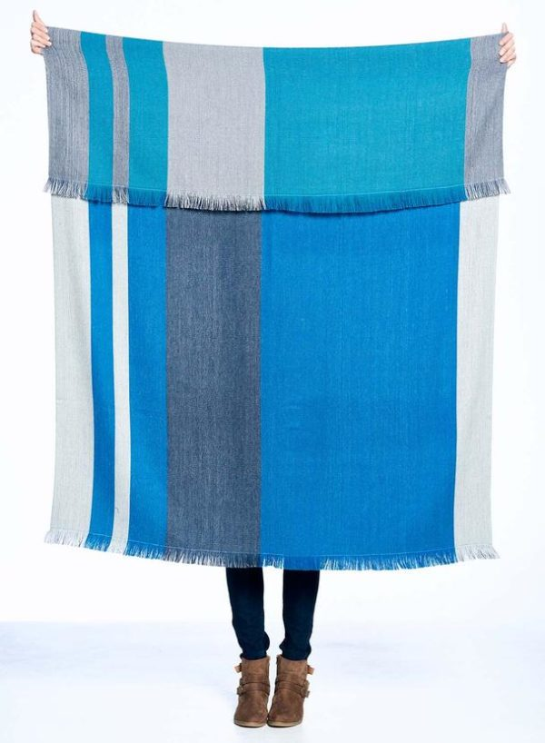 Blue Nile Alpaca Throw compare front to back