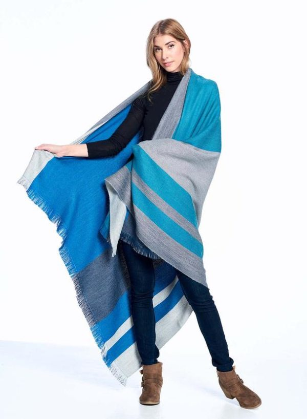 Blue Nile Alpaca Throw front & back