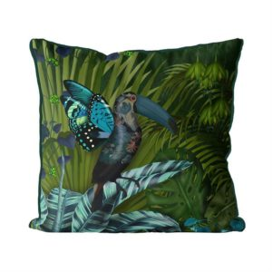 Butterfly Toucan Pillow