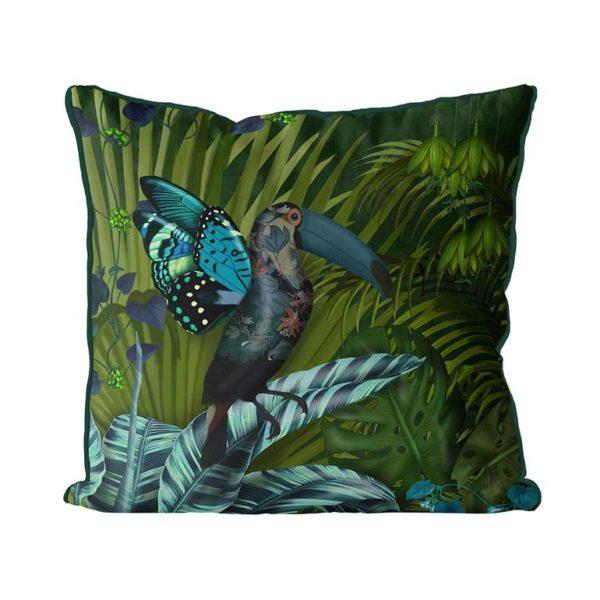 Butterfly Toucan Pillow