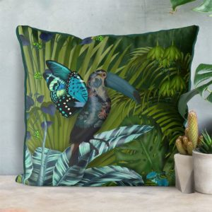 Butterfly Toucan Pillow set