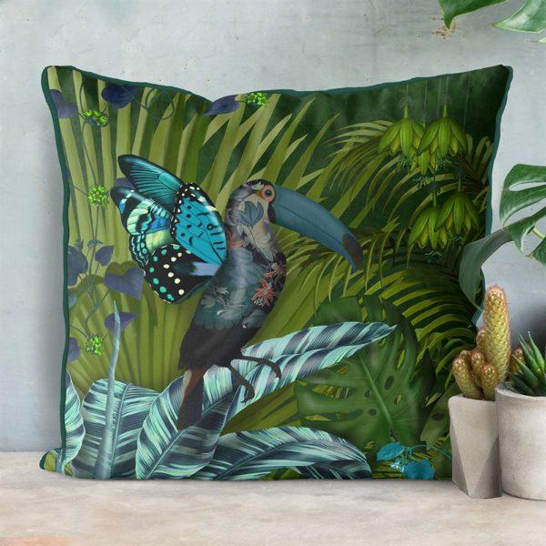 Butterfly Toucan Pillow set