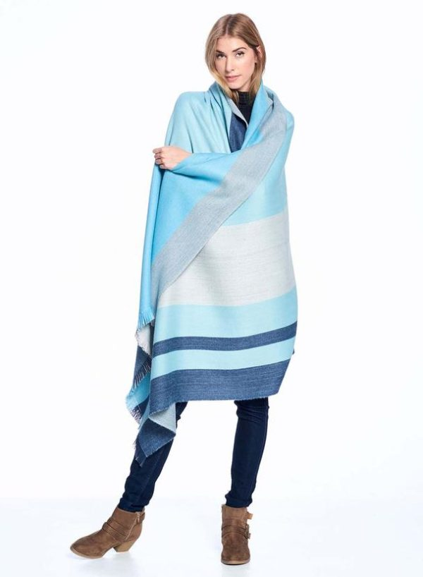 Cool Agave Alpaca Throw wrapped around