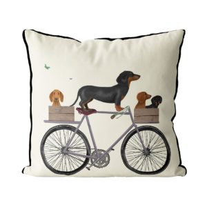 Dachshunds on Bicycle cream