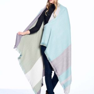 Ether Alpaca Throw showing front & back