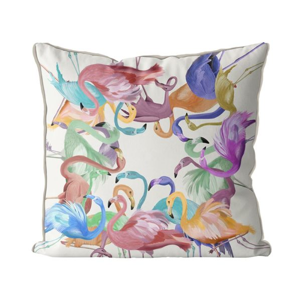 Flamingos in Pastels front view
