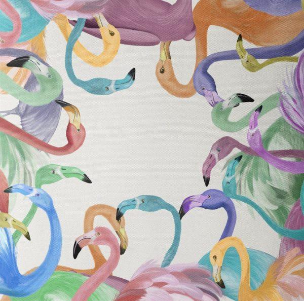 Flamingos in Pastels closeup