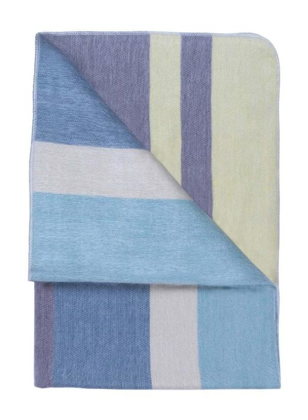 Mineral Blue Alpaca Throw folded