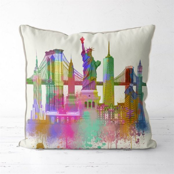 NYC Cityscape in watercolor
