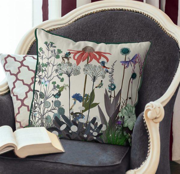 Ostrich & Wildflower Pillow set