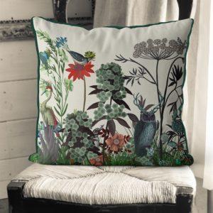 Owl Wildflower Pillow set