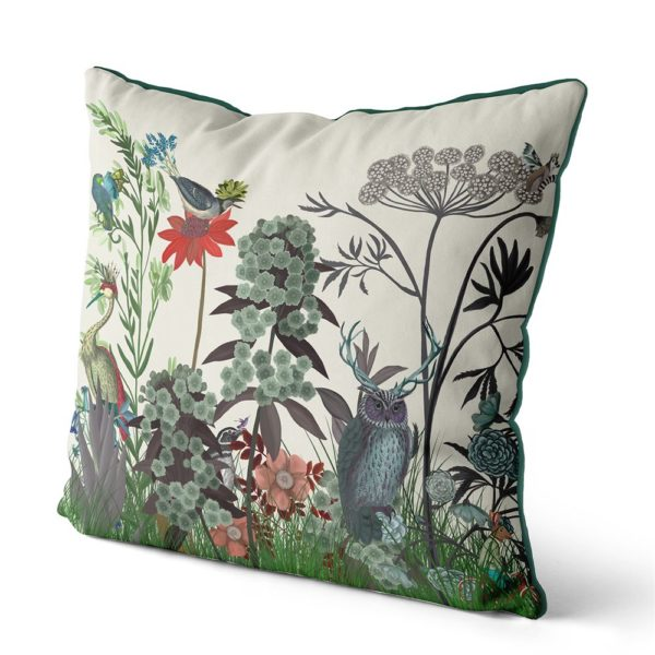 Owl Wildflower Pillow side view