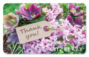 ECard Gift Card Thank you with flower image