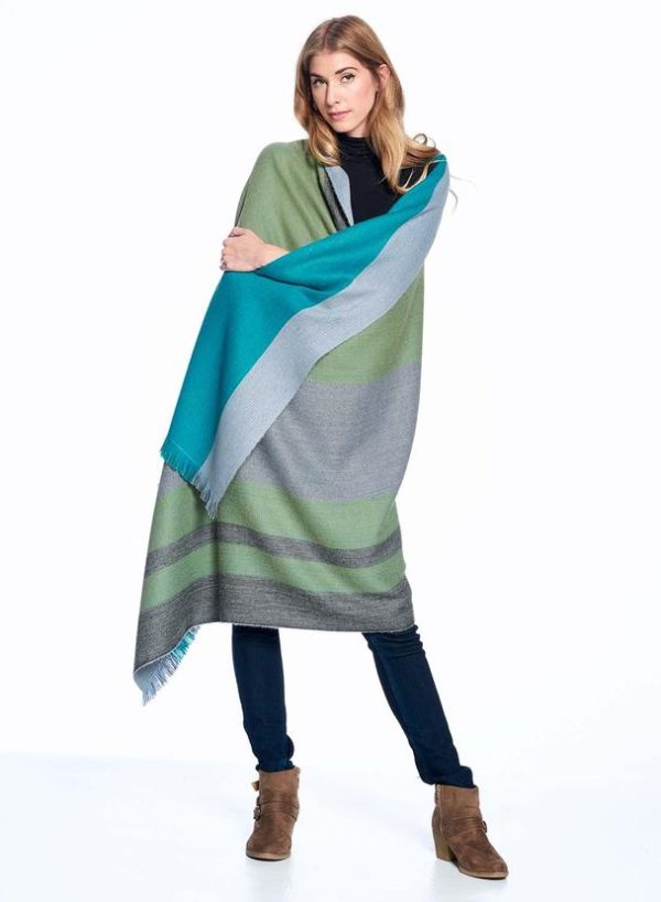 Weeping Willow Alpaca Throw wrapped around