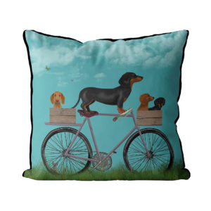 Dachshunds on Bicycle Sky