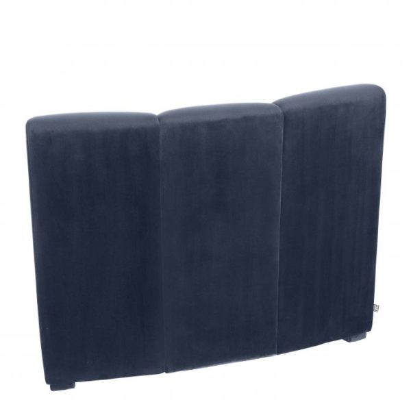 Lando modular section in Navy Velvet back side