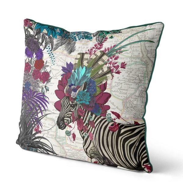 African Zebra pillow in pink