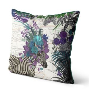Zebra African Pillow purple side view
