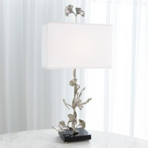 Ginkgo Lamp in nickel finish