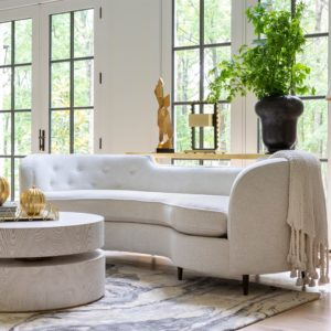 Lauren Sofa in cream color