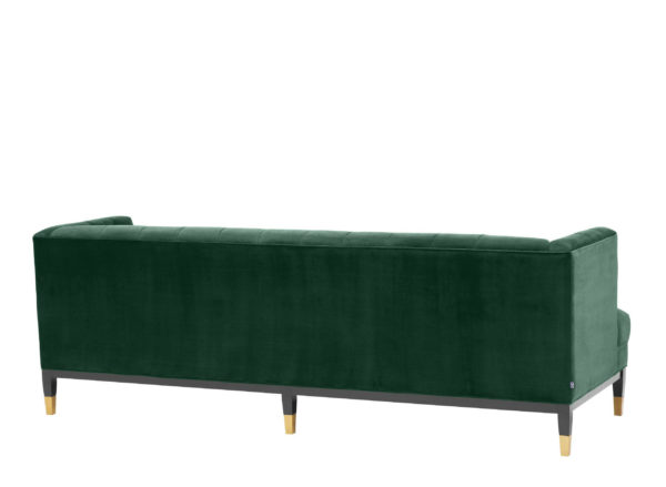 Castelle green sofa back side view