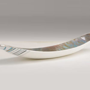 Ivory Amber Murano Gondola