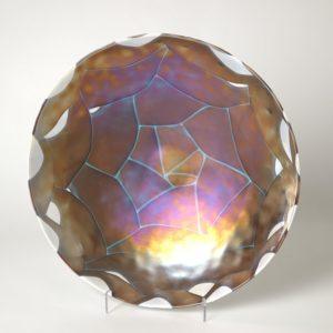 Ivory Amber Centerpiece Bowl