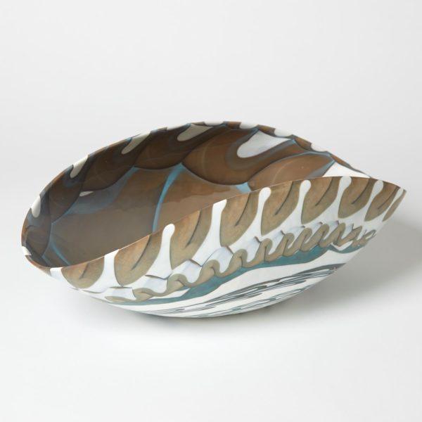 Ivory Amber folded Bowl