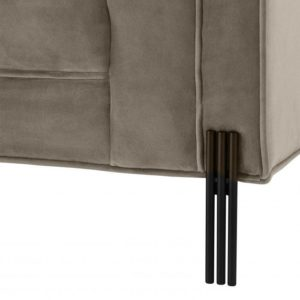 Sienna Sofa in Latte black legs closeup