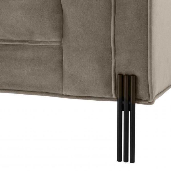 Sienna Sofa in Latte black legs closeup
