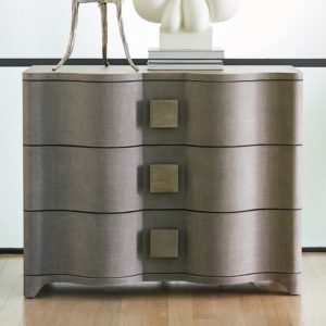 Toile Linen Chest in Gray