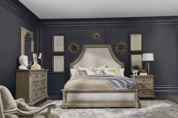 European Light Oak Bed set