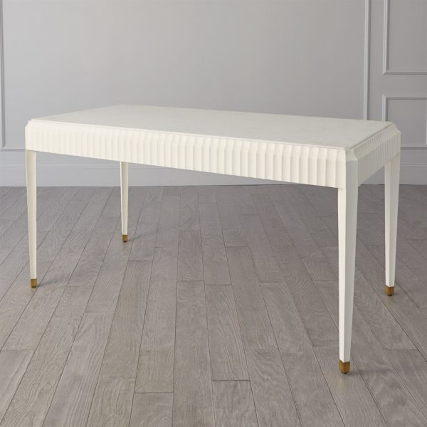 Ivory Fluted desk back view