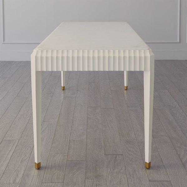 Ivory Fluted desk side view
