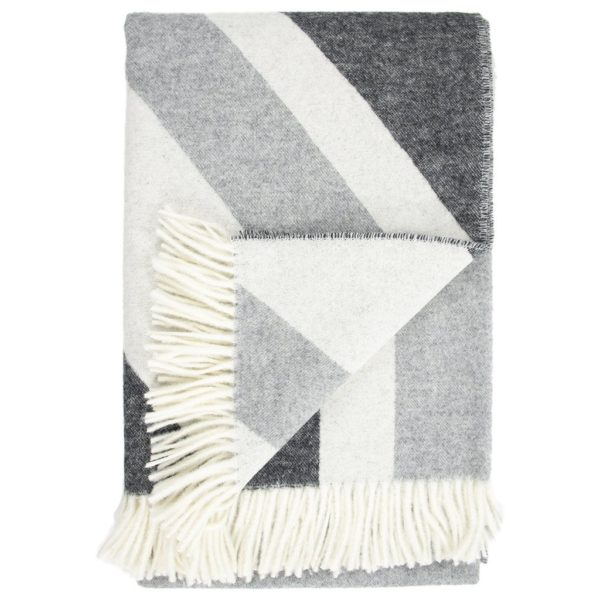 Merino Wool Throw in Monochromatic closeup