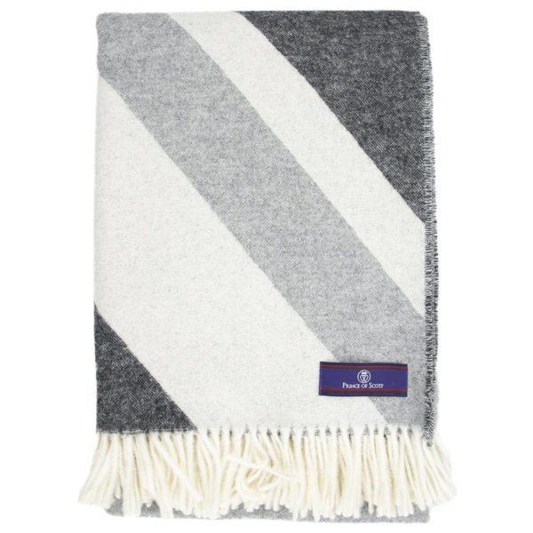 Merino Wool Throw in Monochromatic folded