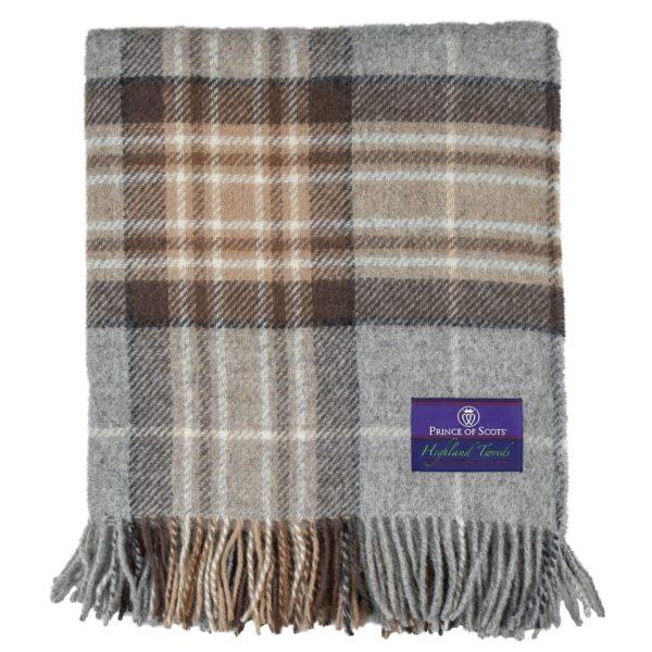 Tartan Lap Throw in Winter folded