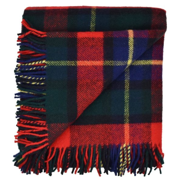Tartan Kilgour blanket angle fold