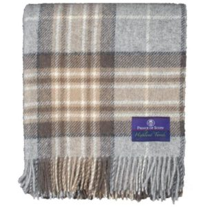 Tartan tweed winter folded