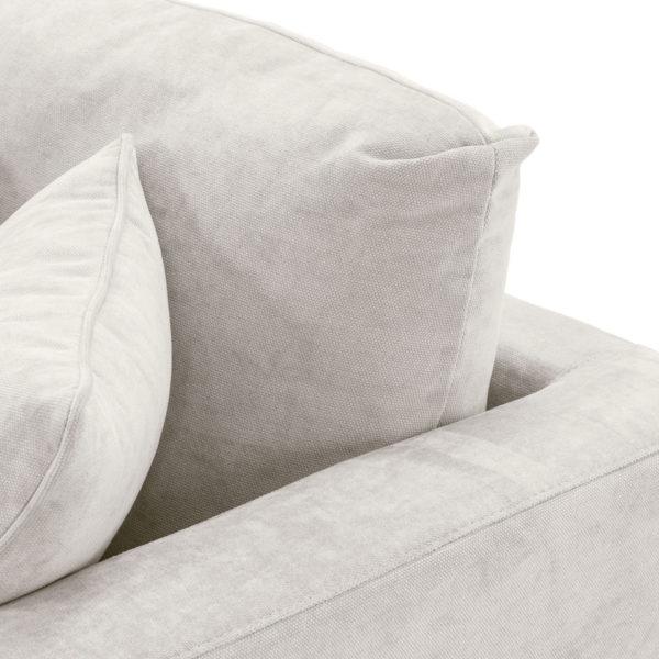 Tuscany sofa in cream close up cushion