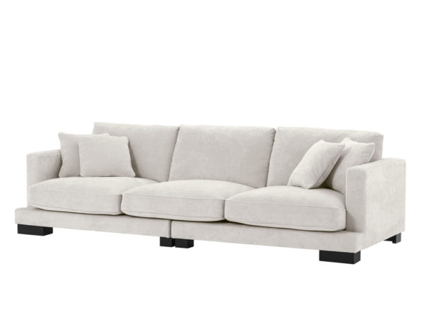 Tuscany sofa in cream front angled view