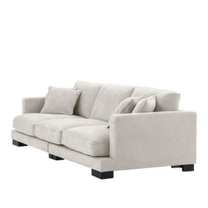 Tuscany sofa in cream side view