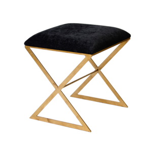 X-SIDE stool with gold legs