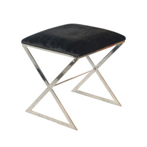 X-SIDE stool with nickel legs