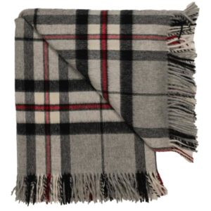 Tartan Grey throw