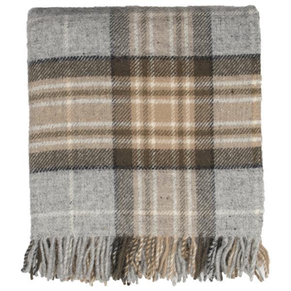 Tartan Tweed New Wool Blanket - Fluffy Winter